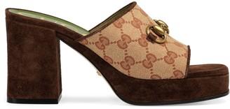 Gucci GG mid-heel platform slide sandal