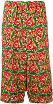 Comme des Garcons floral wide-leg trousers - women - Rayon - XS
