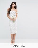 ASOS Tall ASOS TALL WEDDING Jacquard Midi Pencil Dress