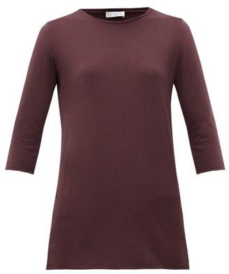 Raey Half-sleeve Cotton-jersey T-shirt - Womens - Burgundy