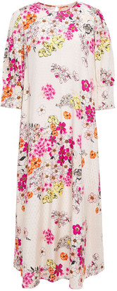 By Ti Mo Floral-print Jacquard Midi Dress