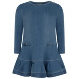 Chloé ChloeGirls Blue Denim Fleece Dress