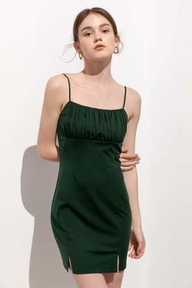 J.ING Titania Green Babydoll Mini Dress