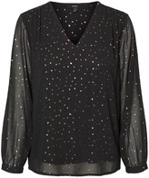Vero Moda Polka Dot Blouse with Long Transparent Sleeves