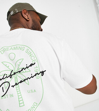New Look PLUS California Dreaming printed t-shirt in white