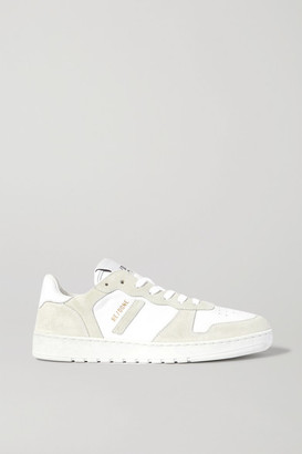 RE/DONE 80s Basketball Perforated Leather And Suede Sneakers - White