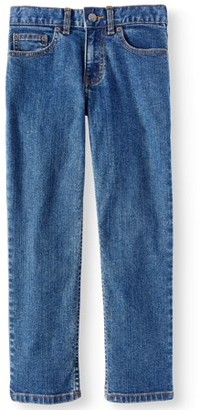 Wonder Nation Boys Straight Stretch Jeans, Sizes 4-16 & Husky