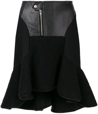 Comme des Garcons Junya Watanabe Pre-Owned faux leather ruffled skirt