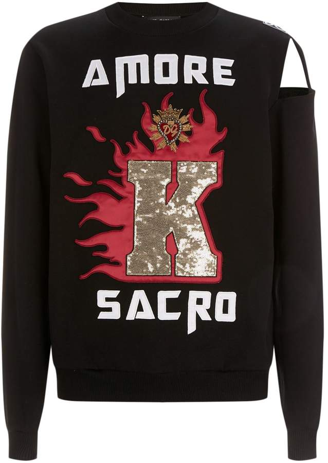 Dolce & Gabbana Embellished Cut Out Sweatshirt