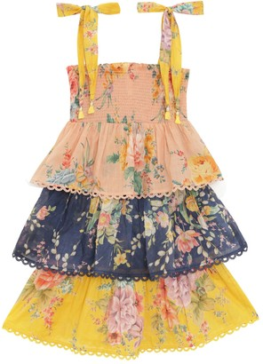 Zimmermann Zinnia Shirred Tiered Dress