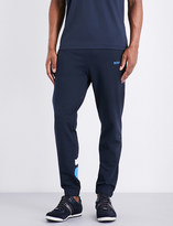 HUGO BOSS Slim-fit tapered cotton-blend jogging bottoms