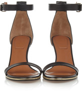 Givenchy Gold line sandals in black leather