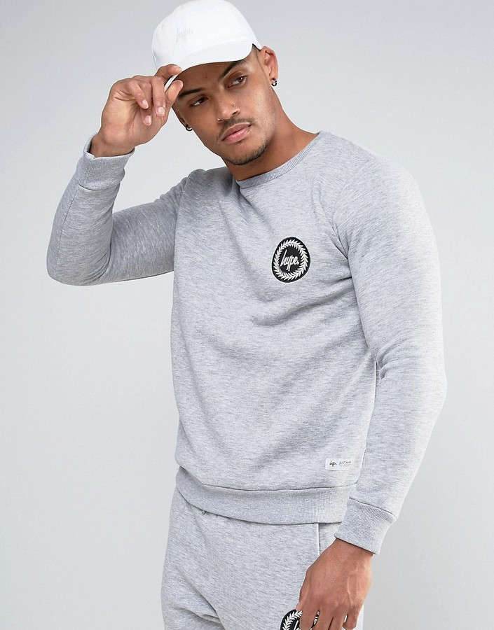 Hype Sweatshirt In Grey With Crest Logo