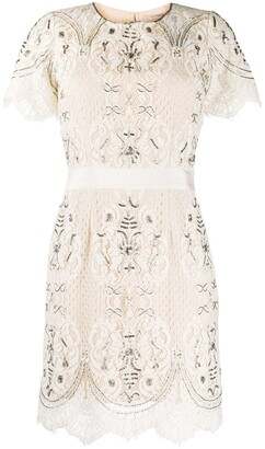 Twin-Set Beaded Lace Dress