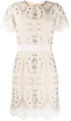 Twin-Set Twin Set beaded lace dress