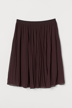 H&M H&M+ Pleated Skirt - Red