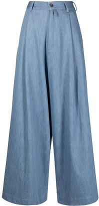Societe Anonyme Hukosa wide-leg trousers