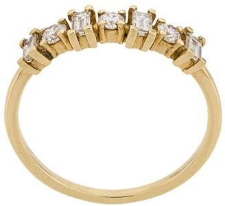 Ileana Makri 18kt yellow gold Baguette diamond band