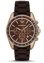 Emporio Armani Silicone-Strap Chronograph & Date Sport Watch