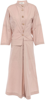 Sea Sienna Stretch-cotton Broadcloth Midi Shirt Dress