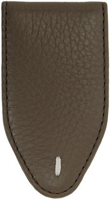 Maison Margiela Taupe Leather Money Clip