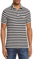 Todd Snyder Striped Short Sleeve Pocket Polo Shirt