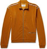 Maison Margiela Ribbed Velour Track Jacket - Mustard
