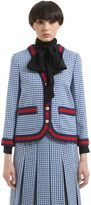 Gucci Triangle Wool Blend Jacquard Jacket