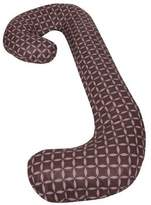Leachco Snoogle Chic - 100% Cotton Snoogle Replacement Cover with Zipper for Easy Use - Brown & Lilac Rings