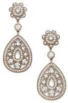 Nina Women's Filigree Teardrop Crystal Earrings