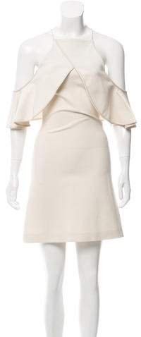 David Koma Mini Off-The-Shoulder Dress