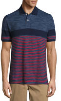 ST. JOHN'S BAY St. John's Bay Short Sleeve Stripe Knit Polo Shirt