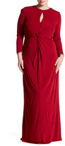 ABS by Allen Schwartz Key Hole Twist Front Gown (Plus Size)