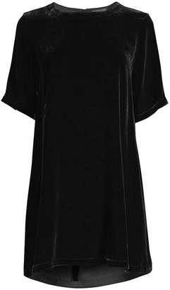 Eileen Fisher Velvet Mini Shift Dress
