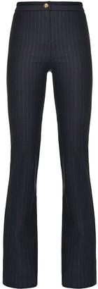 Pinko High-Rise Flared Pinstripe Trousers