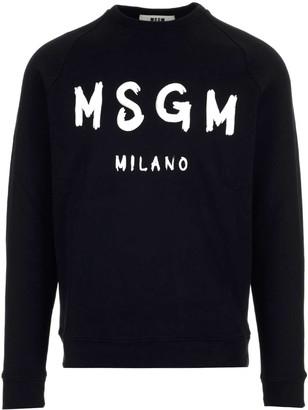 MSGM Paint Brushed Logo Sweatshirt