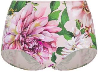 Dolce & Gabbana Floral Rose Print Bikini Bottoms