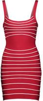 Herve Leger Julietta striped bandage mini dress