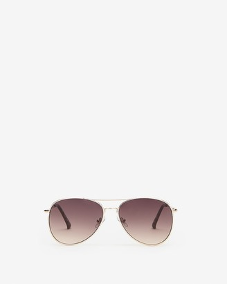 Express Metal Frame Aviator Sunglasses