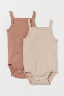 H&M 2-pack Ribbed Cotton Bodysuits