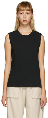 Raquel Allegra Black Muscle Tank Top