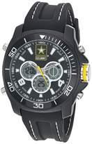 U.S. Army Men's Analog-Digital Chronograph Black Silicone Strap Watch by Wrist Armor F2/1014
