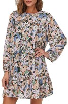 Thumbnail for your product : Only Star Long Sleeve Frill Short Dress Black Flower