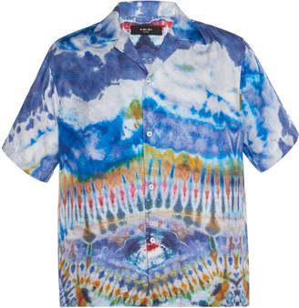 Amiri Tie Dye Silk Top