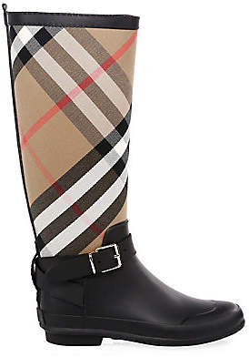 Burberry Women's Simeon Knee-High Rubber Riding Boots
