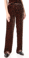 Tibi Pull On Velvet Track Pants
