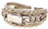 Sorrelli Petite Braided Aurora Borealis Baguette Crystal Ring