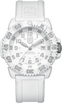 Luminox 44mm Navy SEAL 3050 Series Colormark Watch, White