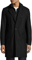 Andrew Marc Truro Pressed Wool Coat, Black