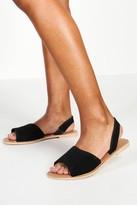 boohoo Wide Fit 2 Part Peeptoe Suede Sandals